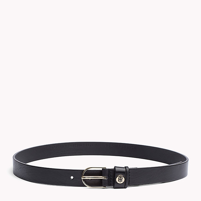 TOMMY HILFIGER Leather Belt - TOMMY RED - TOMMY HILFIGER Women - main image