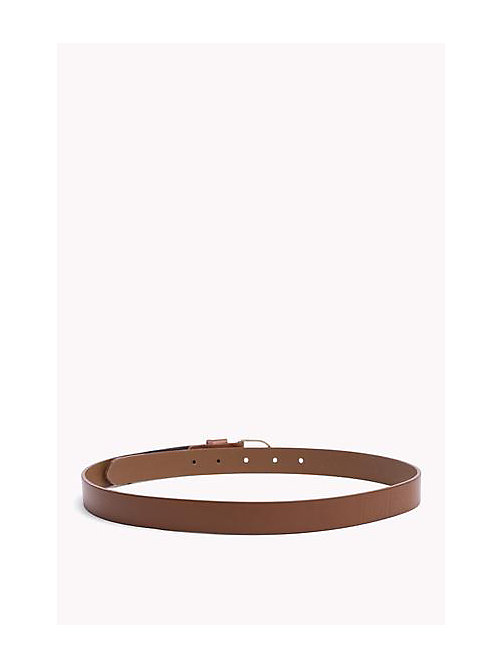 TOMMY HILFIGER Leather Belt - DARK TAN - TOMMY HILFIGER Belts - detail image 1