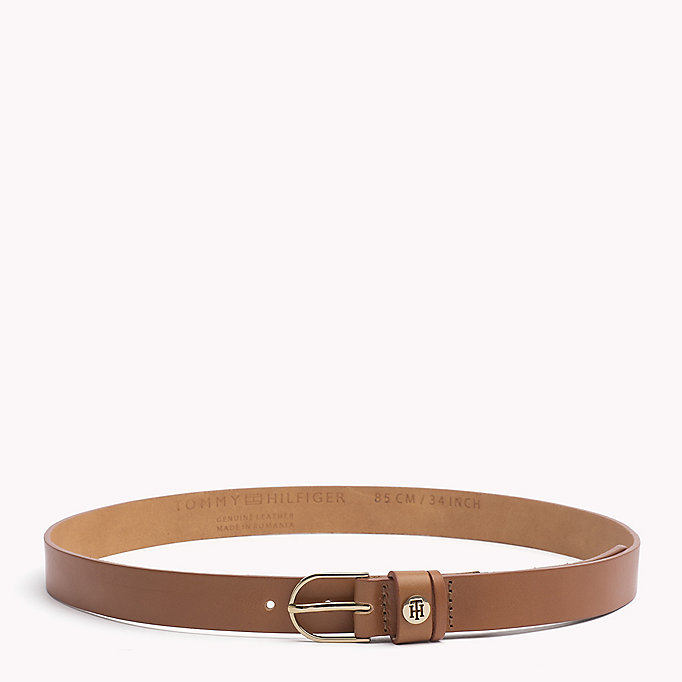 TOMMY HILFIGER Leather Belt - MIDNIGHT - TOMMY HILFIGER Women - main image