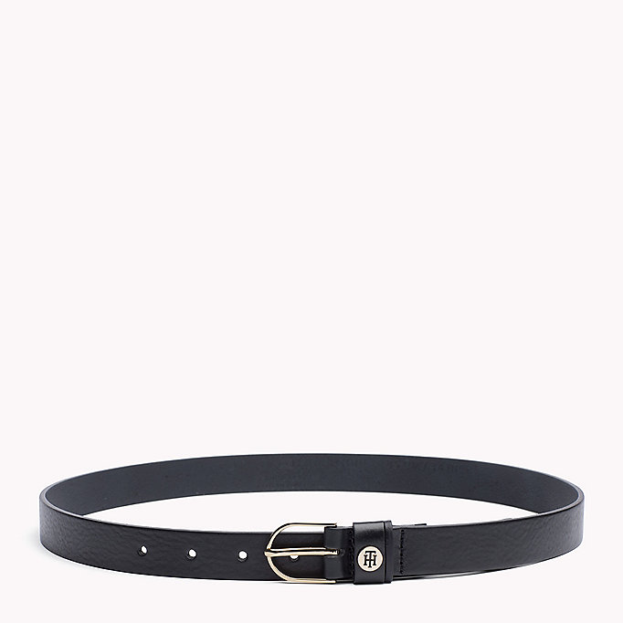 TOMMY HILFIGER Leather Belt - TURTLEDOVE - TOMMY HILFIGER Women - main image