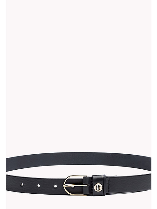 TOMMY HILFIGER Leather Belt - TOMMY NAVY - TOMMY HILFIGER Belts - main image