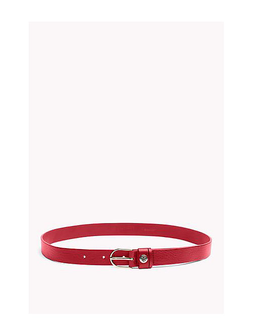 TOMMY HILFIGER Leather Belt - SCOOTER RED - TOMMY HILFIGER Belts - main image
