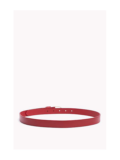 TOMMY HILFIGER Leather Belt - TOMMY RED - TOMMY HILFIGER Belts - detail image 1