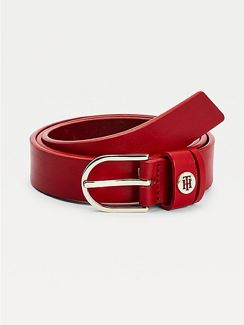 TOMMY HILFIGER Leather Belt - TOMMY RED - TOMMY HILFIGER Belts - main image
