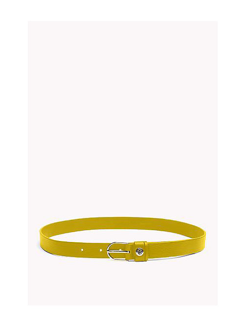 TOMMY HILFIGER Leather Belt - CEYLON YELLOW - TOMMY HILFIGER Belts - main image