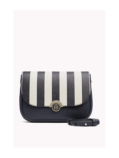 TOMMY HILFIGER Reversible Flap Crossover Bag - TOMMY NAVY/ TURTLE DOVE STRIPE -  Women - main image