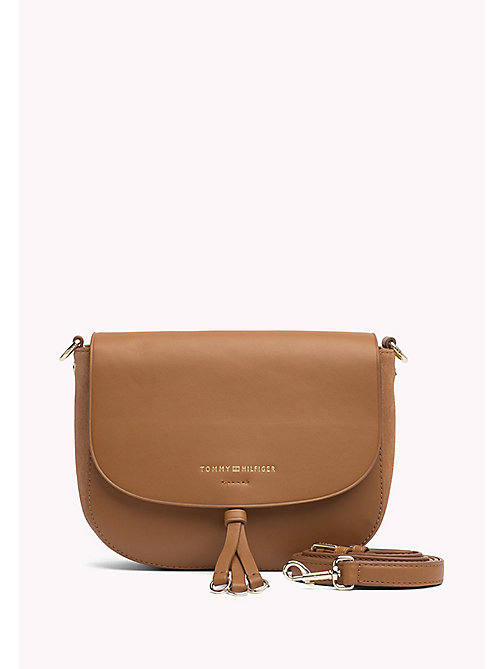 TOMMY HILFIGER Leather Crossover Bag - COGNAC - TOMMY HILFIGER Women - main image
