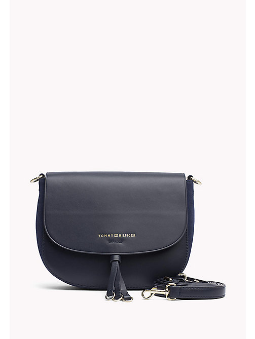 TOMMY HILFIGER Leather Crossover Bag - TOMMY NAVY - TOMMY HILFIGER Women - main image