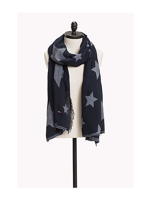 TOMMY JEANS Star Scarf - DRESS BLUES -  Women - main image