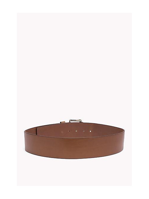 TOMMY HILFIGER Wide Leather Belt - TAN - TOMMY HILFIGER Bags & Accessories - detail image 1