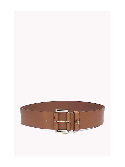TOMMY HILFIGER Wide Leather Belt - TAN - TOMMY HILFIGER Bags & Accessories - main image
