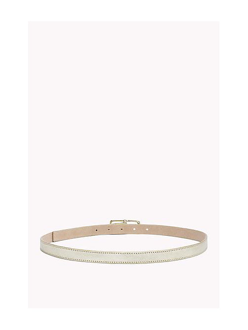 TOMMY HILFIGER Skinny Leather Belt - GOLD - TOMMY HILFIGER Women - detail image 1