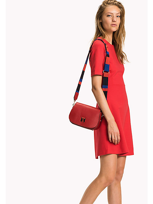 TOMMY HILFIGER Leather Saddle Bag - TOMMY RED - TOMMY HILFIGER Women - detail image 1