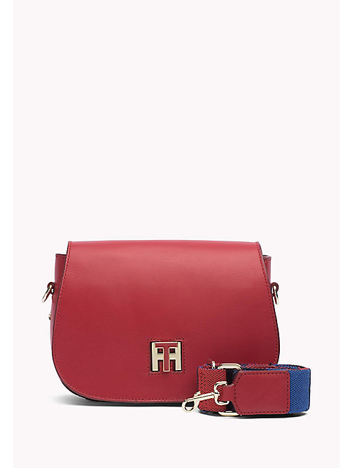 TOMMY HILFIGER Leather Saddle Bag - TOMMY RED - TOMMY HILFIGER Women - main image