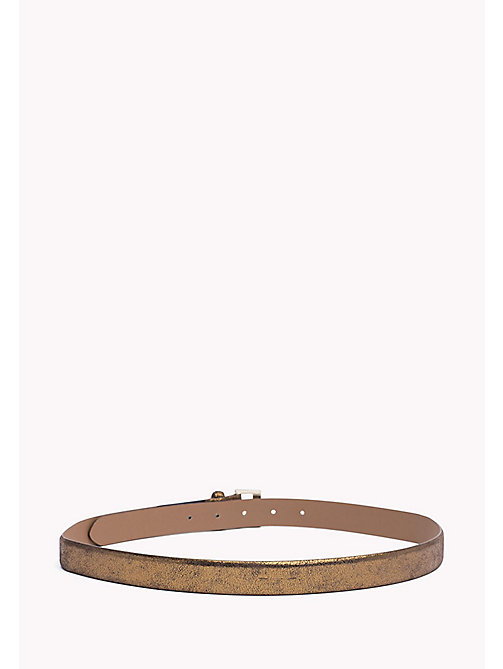 TOMMY HILFIGER Metallic Leather Belt - BRONZE - TOMMY HILFIGER Women - detail image 1