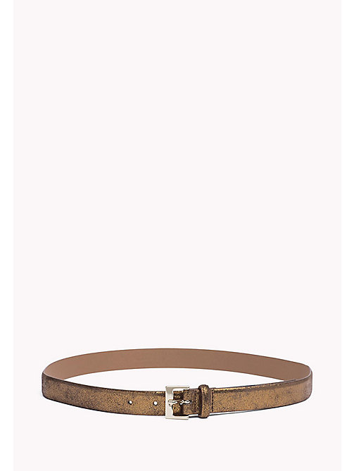TOMMY HILFIGER Metallic Leather Belt - BRONZE - TOMMY HILFIGER Women - main image