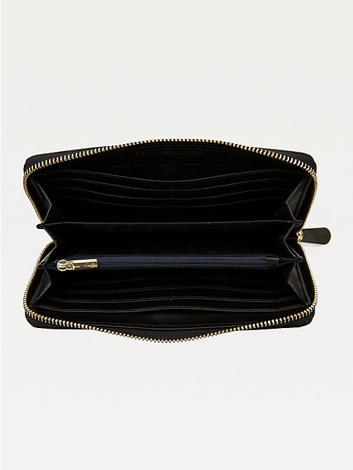 TOMMY HILFIGER Large Monogram Zip Wallet - BLACK - TOMMY HILFIGER Wallets - detail image 1