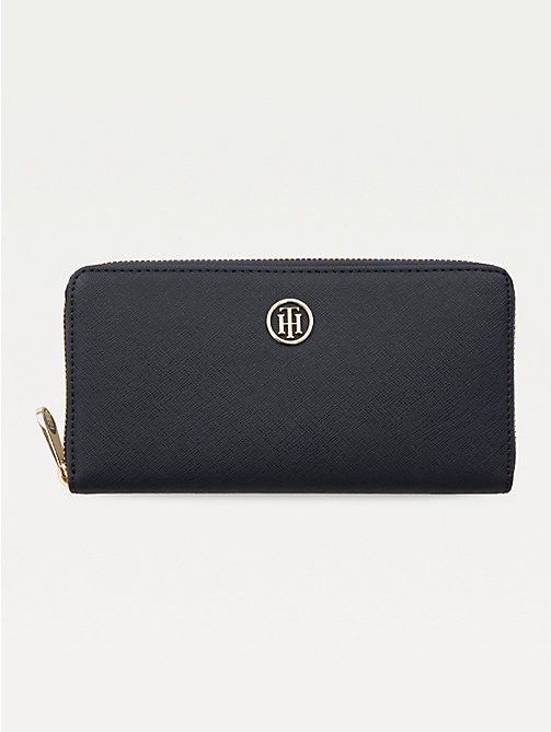 TOMMY HILFIGER Large Monogram Zip Wallet - TOMMY NAVY - TOMMY HILFIGER Wallets - main image
