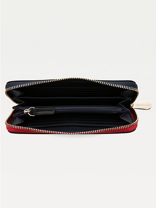 TOMMY HILFIGER Large Zip Around Wallet - BLACK - TOMMY HILFIGER Wallets - detail image 1
