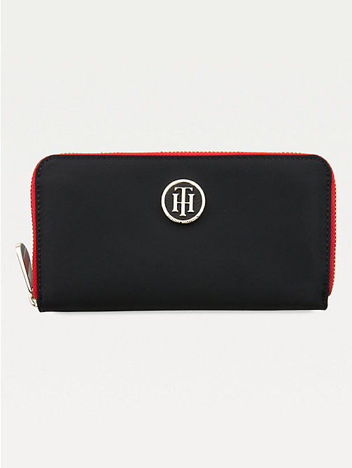 TOMMY HILFIGER Large Zip Around Wallet - BLACK - TOMMY HILFIGER Wallets - main image
