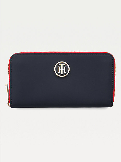 TOMMY HILFIGER Large Zip Around Wallet - TOMMY NAVY - TOMMY HILFIGER Wallets - main image