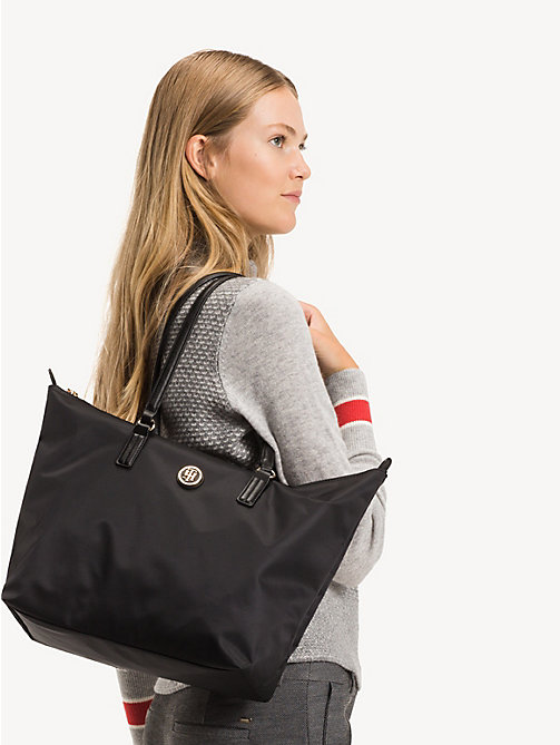 TOMMY HILFIGER Shopper van nylonmix - BLACK - TOMMY HILFIGER Shoppers - detail image 1