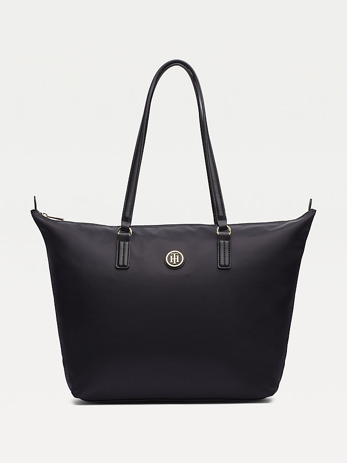 black nylon blend tote for women tommy hilfiger
