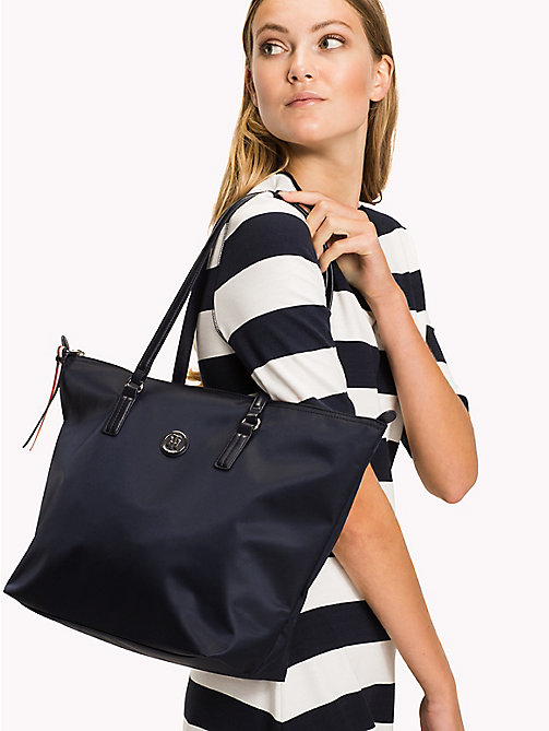 TOMMY HILFIGER Nylon Blend Tote - TOMMY NAVY - TOMMY HILFIGER Bags - detail image 1