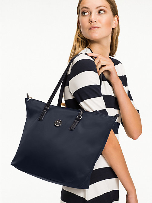 TOMMY HILFIGER Nylon Blend Tote - TOMMY NAVY - TOMMY HILFIGER Tote Bags - detail image 1