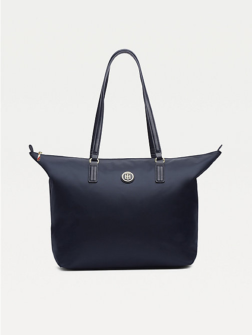 TOMMY HILFIGER Nylon Blend Tote - TOMMY NAVY - TOMMY HILFIGER Bags - main image