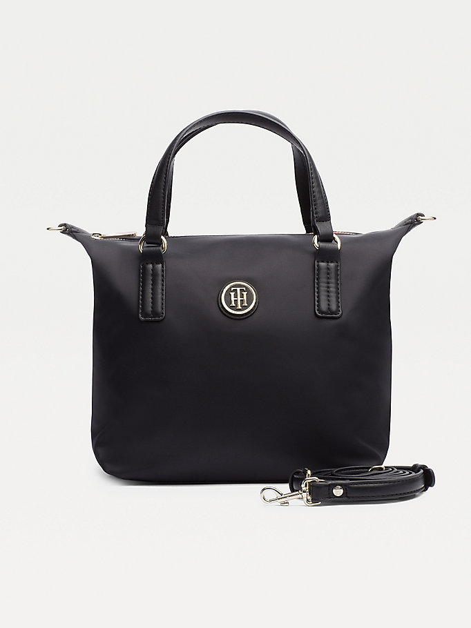 black small tote bag for women tommy hilfiger