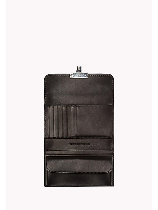 TOMMY HILFIGER Leather Flap Wallet - BLACK - TOMMY HILFIGER Bags & Accessories - detail image 1