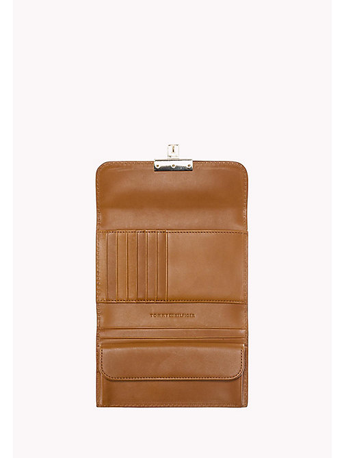 TOMMY HILFIGER Leather Flap Wallet - COGNAC - TOMMY HILFIGER Bags & Accessories - detail image 1
