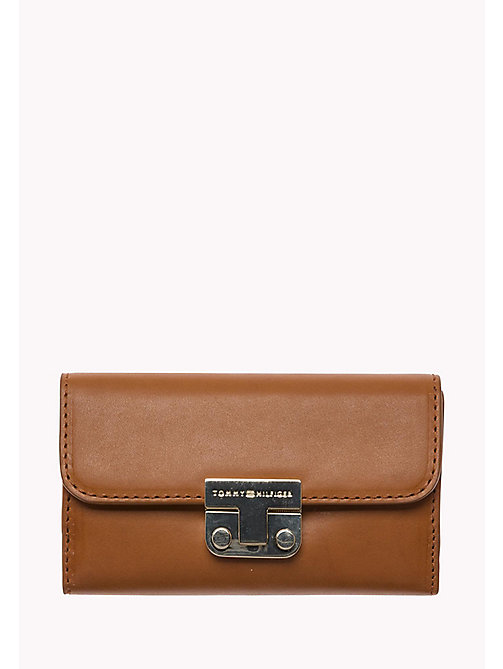 TOMMY HILFIGER Leather Flap Wallet - COGNAC - TOMMY HILFIGER Bags & Accessories - main image
