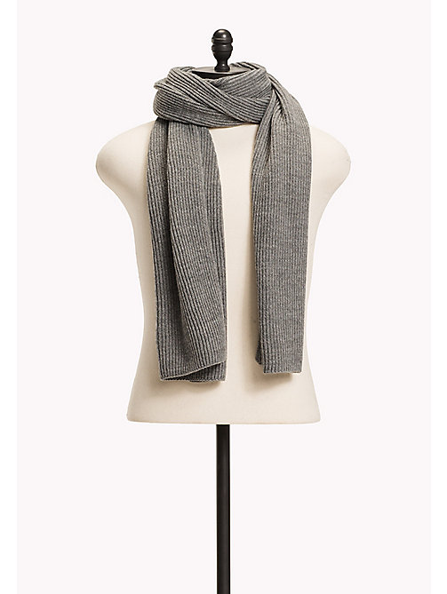 TOMMY JEANS Knit Scarf - GREY MELANGE - TOMMY JEANS Bags & Accessories - main image