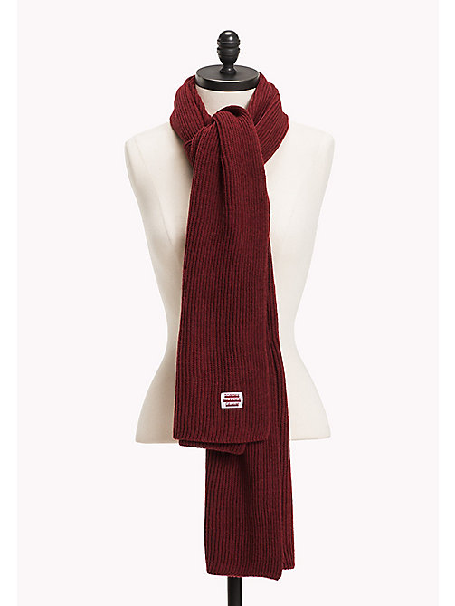 TOMMY JEANS Knit Scarf - CABERNET -  Women - main image
