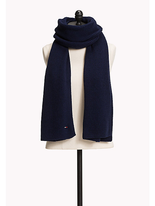 TOMMY JEANS Knit Scarf - MEDIEVAL BLUE -  Women - main image