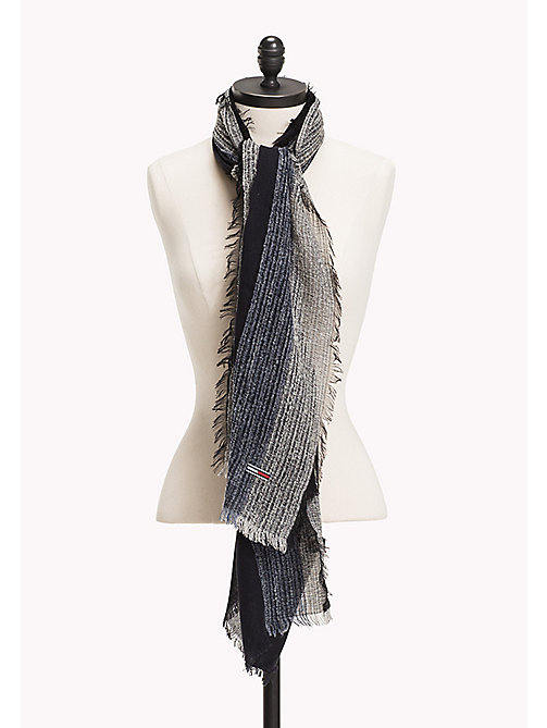 TOMMY JEANS Boucle Stripe Scarf - BLUE MIX - TOMMY JEANS Bags & Accessories - main image