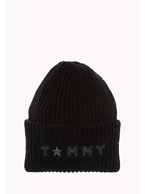 TOMMY HILFIGER Wool Blend Beanie - BLACK - TOMMY HILFIGER Bags & Accessories - main image