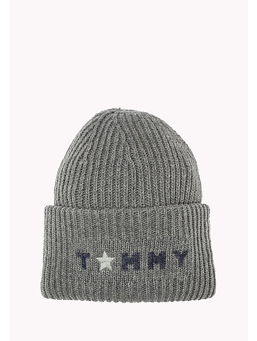 TOMMY HILFIGER Wool Blend Beanie - 039-LIGHT GREY HEATHER - TOMMY HILFIGER Bags & Accessories - main image