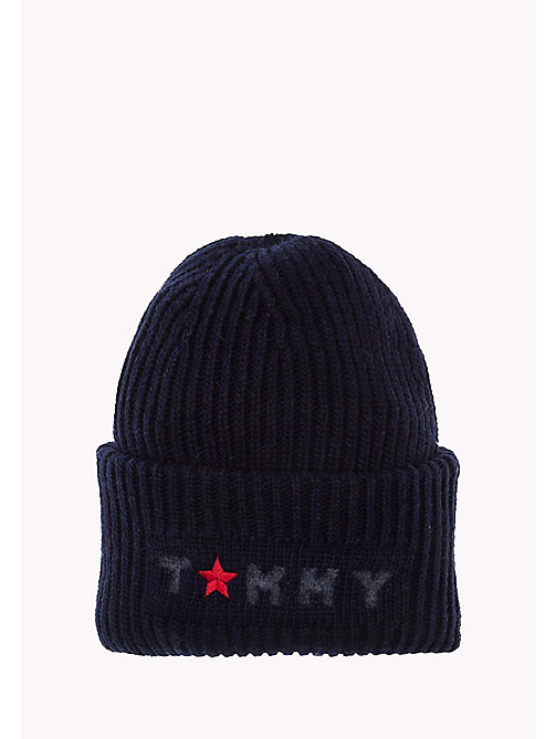 TOMMY HILFIGER Wool Blend Beanie - TOMMY NAVY - TOMMY HILFIGER Women - main image