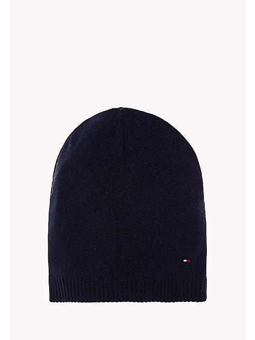 TOMMY HILFIGER Cotton/Cashmere Blend Beanie - TOMMY NAVY -  Women - main image