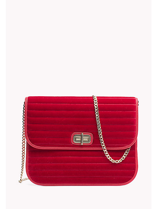 TOMMY HILFIGER Velvet Crossover Pouch - TOMMY RED - TOMMY HILFIGER Women - main image