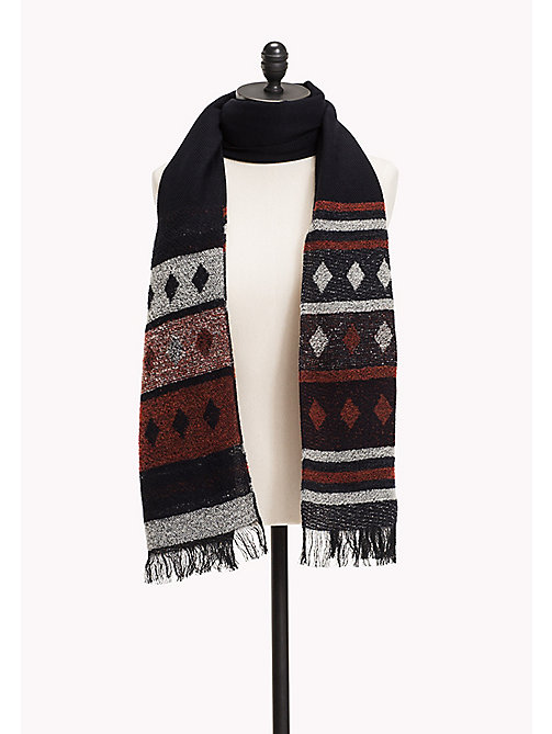 TOMMY JEANS Boucle Argyle Scarf - MEDIEVAL BLUE - TOMMY JEANS Bags & Accessories - main image