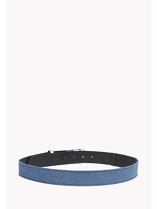 TOMMY HILFIGER Leather and Denim Belt - DENIM - TOMMY HILFIGER Women - detail image 1