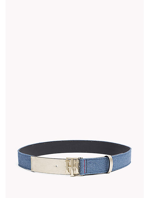 TOMMY HILFIGER Leather and Denim Belt - DENIM - TOMMY HILFIGER Bags & Accessories - main image
