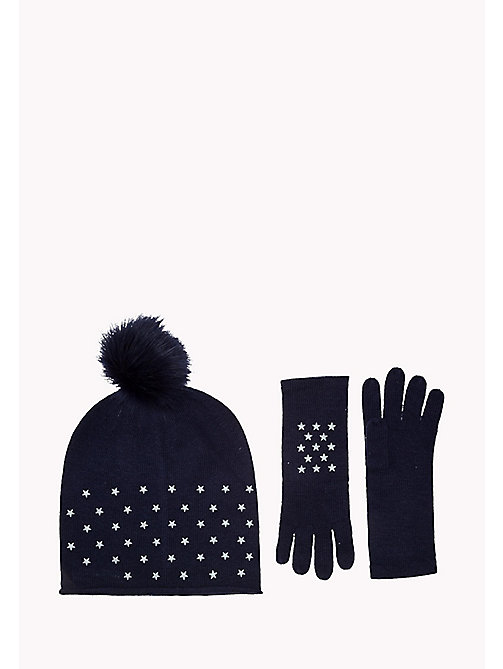 TOMMY HILFIGER Star Gloves and Beanie Holiday Gift Pack - TOMMY NAVY - TOMMY HILFIGER Bags & Accessories - main image