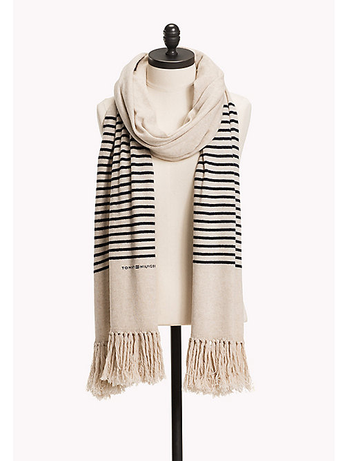 TOMMY HILFIGER Wool Blend Scarf and Beanie Gift Pack - TURTLEDOVE? 12-5202 - TOMMY HILFIGER Bags & Accessories - main image