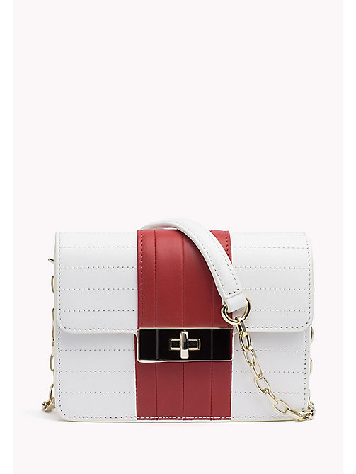 TOMMY HILFIGER Leather Chain Strap Bag - BRIGHT WHITE/ TOMMY RED - TOMMY HILFIGER Bags & Accessories - main image