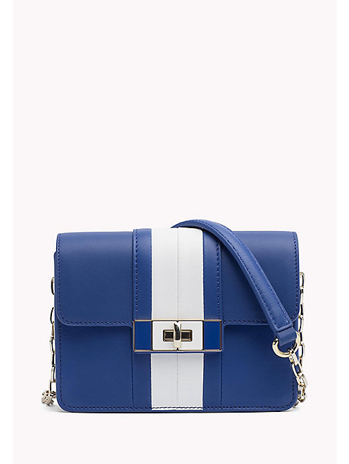 TOMMY HILFIGER Leather Chain Strap Bag - SURF THE WEB/ BRIGHT WHITE - TOMMY HILFIGER Crossbody Bags - main image